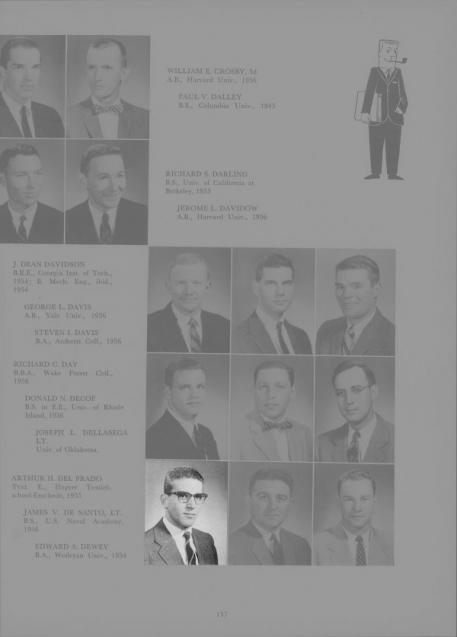 Arthur del Prado Harvard Yearbook 1957