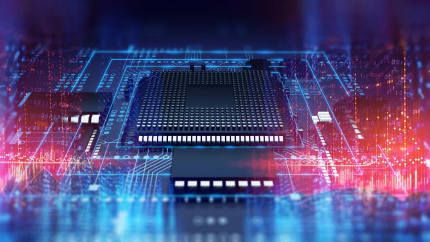 Chip on board lights binary signals